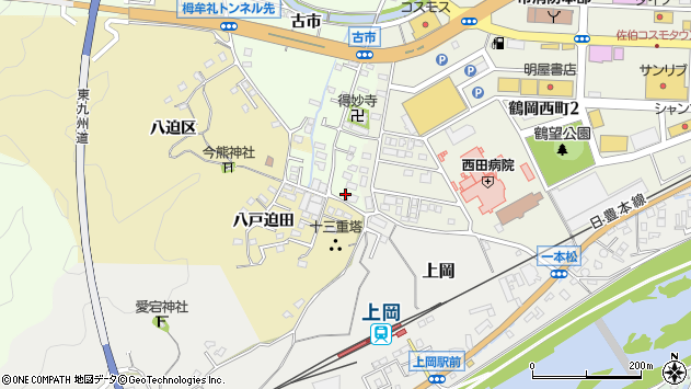 大分県佐伯市稲垣527周辺の地図