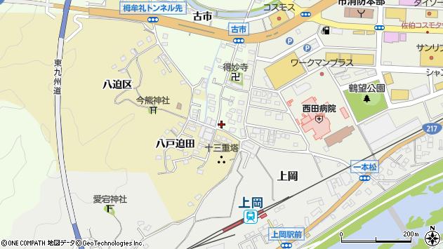 大分県佐伯市稲垣524周辺の地図