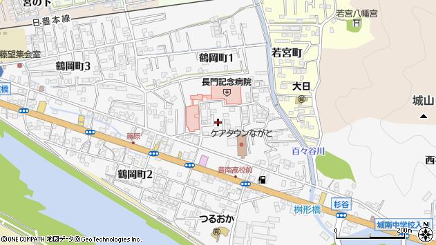 大分県佐伯市鶴岡町桝形区周辺の地図