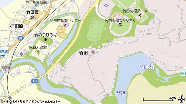 大分県竹田市竹田1202周辺の地図