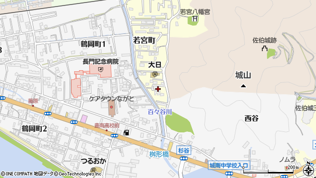 大分県佐伯市若宮町1周辺の地図