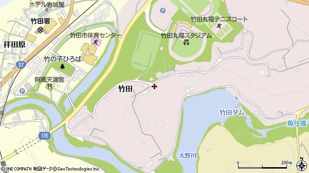 大分県竹田市竹田1220周辺の地図