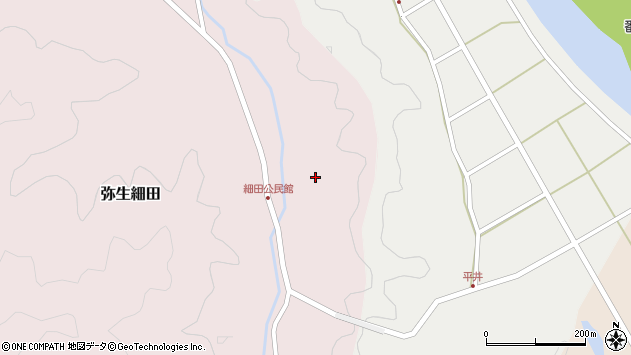 大分県佐伯市弥生大字細田1625周辺の地図