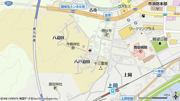 大分県佐伯市稲垣287周辺の地図