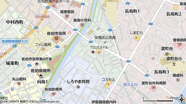 大分県佐伯市来島町周辺の地図