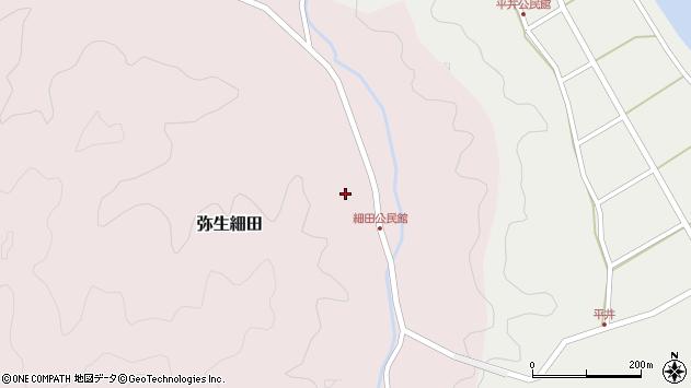 大分県佐伯市弥生大字細田1141周辺の地図