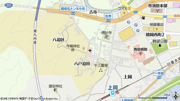 大分県佐伯市稲垣289周辺の地図