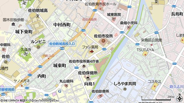大分県佐伯市中村南町1329周辺の地図