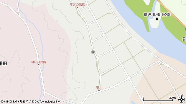 大分県佐伯市弥生大字平井450周辺の地図