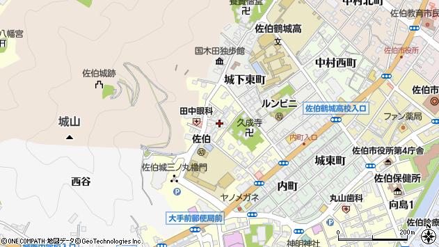 大分県佐伯市城下西町4周辺の地図