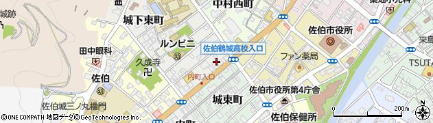大分県佐伯市城下東町1周辺の地図