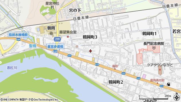 大分県佐伯市鶴岡町周辺の地図
