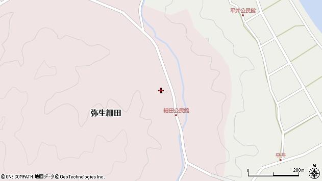 大分県佐伯市弥生大字細田1127周辺の地図