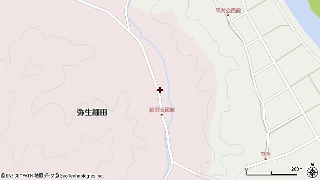 大分県佐伯市弥生大字細田1129周辺の地図