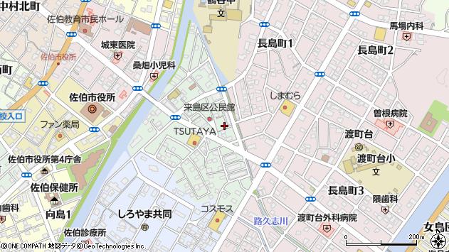 大分県佐伯市来島町11周辺の地図