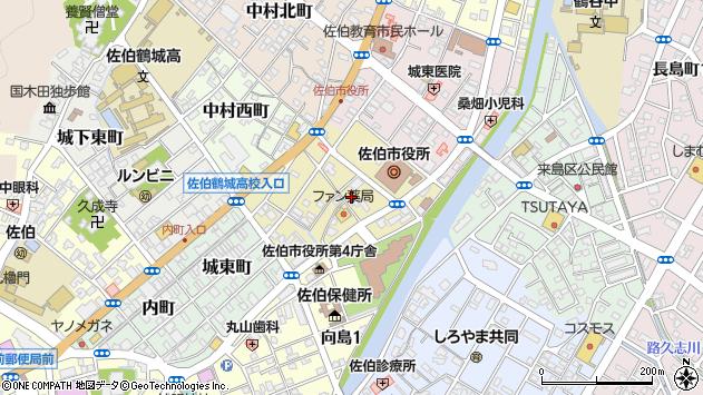 大分県佐伯市中村南町4周辺の地図