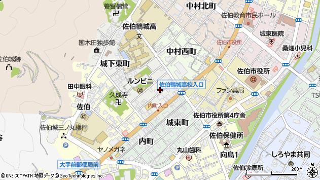 大分県佐伯市城下東町2周辺の地図