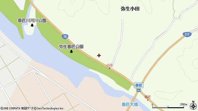 大分県佐伯市弥生大字小田208周辺の地図