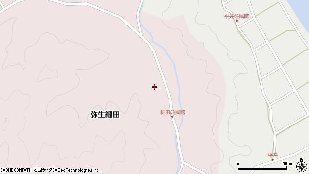 大分県佐伯市弥生大字細田1114周辺の地図