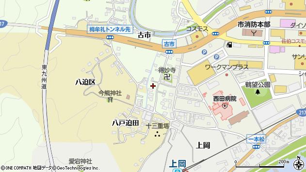 大分県佐伯市稲垣516周辺の地図