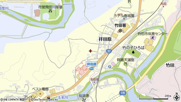 大分県竹田市拝田原286周辺の地図