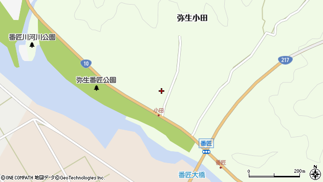 大分県佐伯市弥生大字小田343周辺の地図
