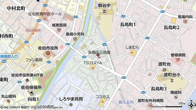 大分県佐伯市来島町10周辺の地図