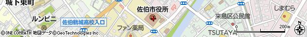 大分県佐伯市周辺の地図