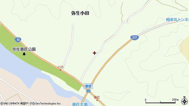 大分県佐伯市弥生大字小田278周辺の地図
