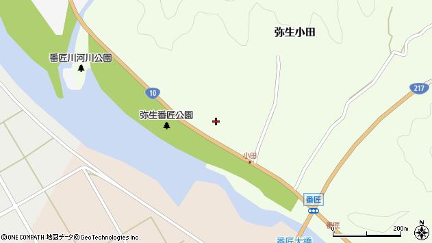 大分県佐伯市弥生大字小田212周辺の地図