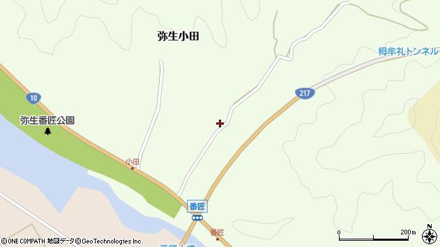 大分県佐伯市弥生大字小田281周辺の地図