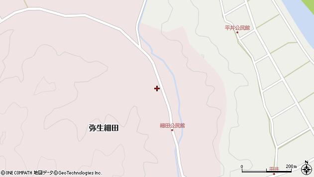 大分県佐伯市弥生大字細田1111周辺の地図
