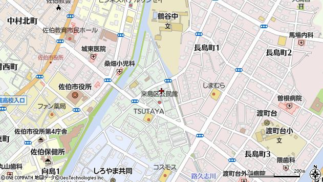 大分県佐伯市来島町6周辺の地図