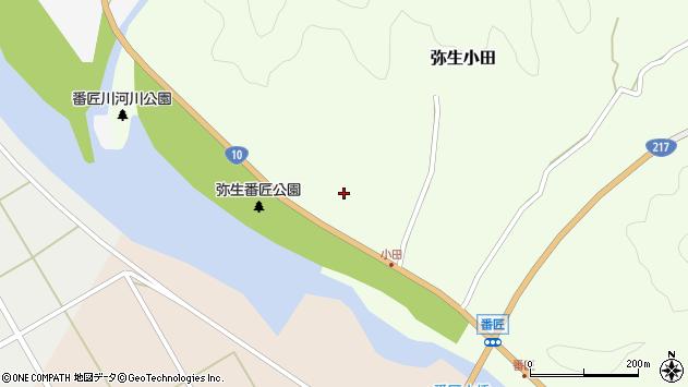 大分県佐伯市弥生大字小田165周辺の地図