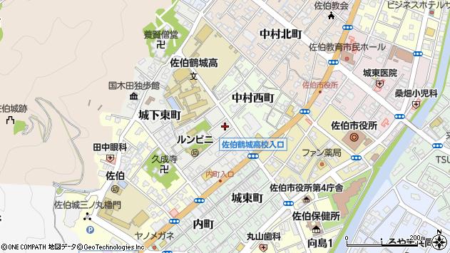 大分県佐伯市城下東町3周辺の地図