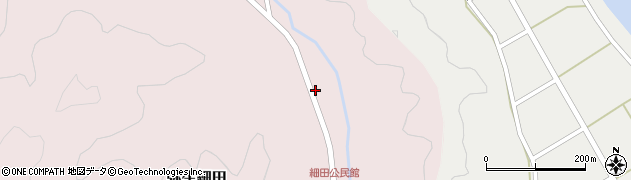大分県佐伯市弥生大字細田1638周辺の地図