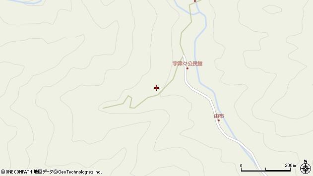 大分県佐伯市本匠大字宇津々627周辺の地図