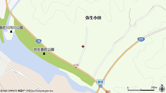 大分県佐伯市弥生大字小田361周辺の地図