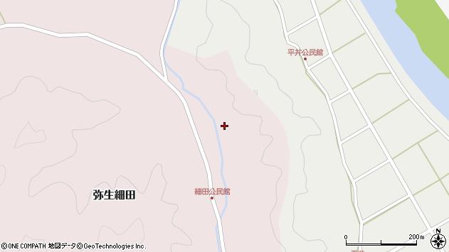 大分県佐伯市弥生大字細田1650周辺の地図