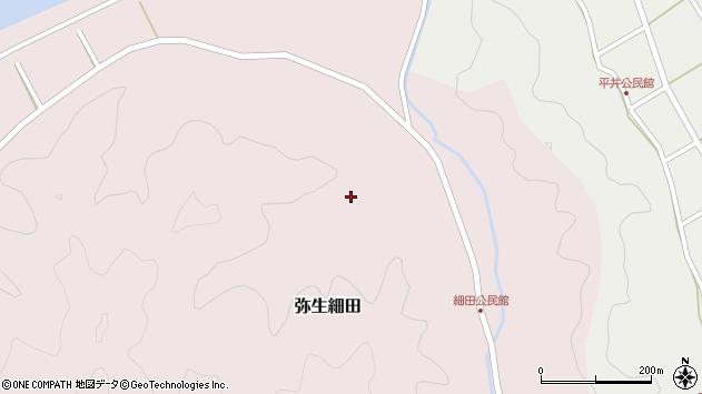 大分県佐伯市弥生大字細田996周辺の地図