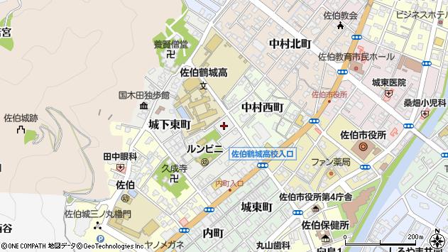 大分県佐伯市城下東町4周辺の地図