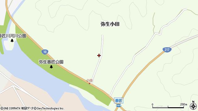 大分県佐伯市弥生大字小田362周辺の地図