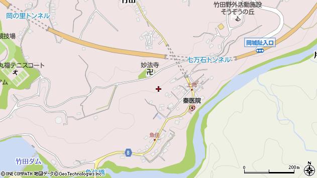 大分県竹田市竹田上角東周辺の地図