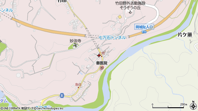 大分県竹田市竹田691周辺の地図