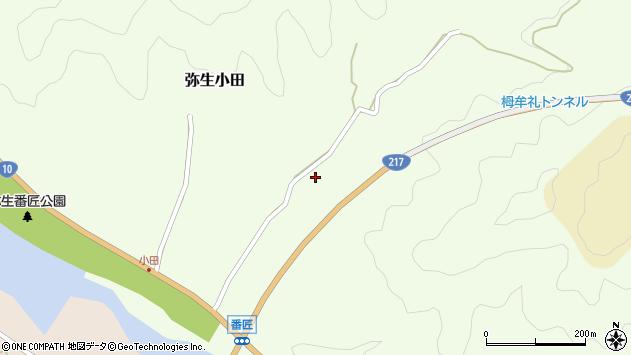 大分県佐伯市弥生大字小田840周辺の地図