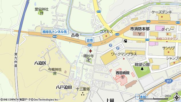 大分県佐伯市稲垣483周辺の地図