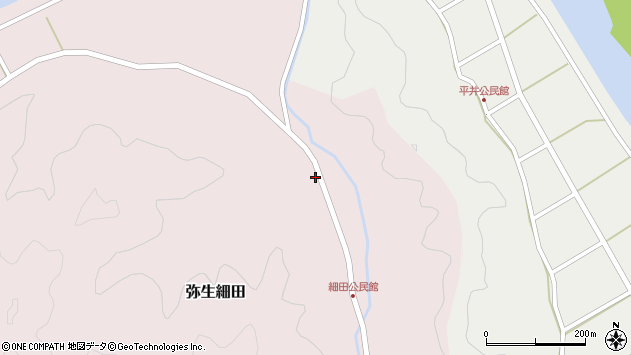 大分県佐伯市弥生大字細田1099周辺の地図