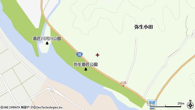 大分県佐伯市弥生大字小田159周辺の地図