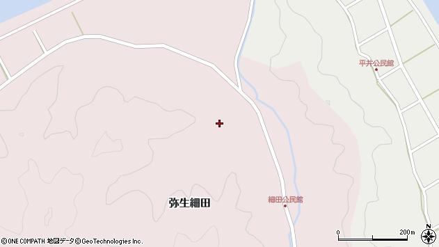 大分県佐伯市弥生大字細田985周辺の地図