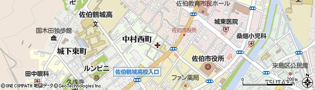 大分県佐伯市中村西町1周辺の地図